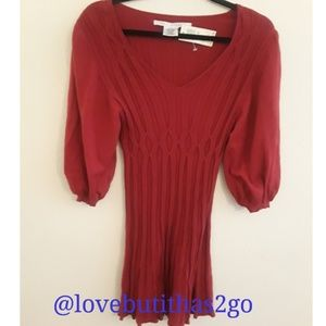 Nwt Max Studio red sweater dress bell sleeve
